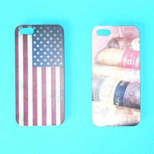 Plastic Hard Back Shell Case Phone Cover Skin for Iphone5/5s